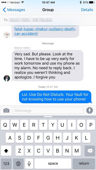 Did you know there's a Do Not Disturb option for group messages?