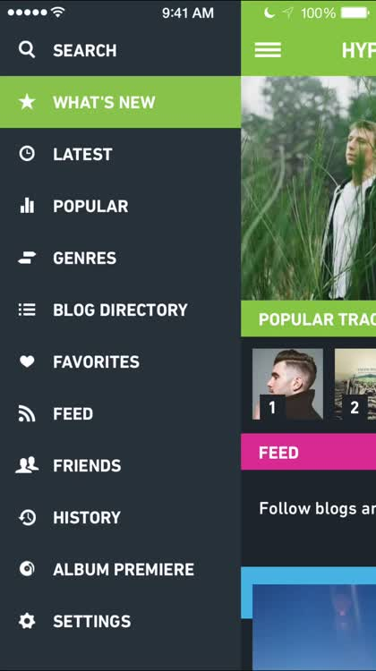 Follow your favorite music blogs
