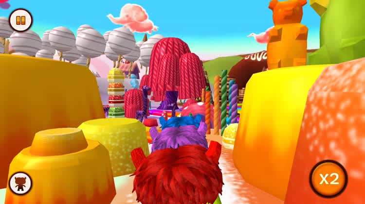 Move through a colorful world
