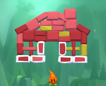 Bounce your flame to break blocks in Smashy Brick