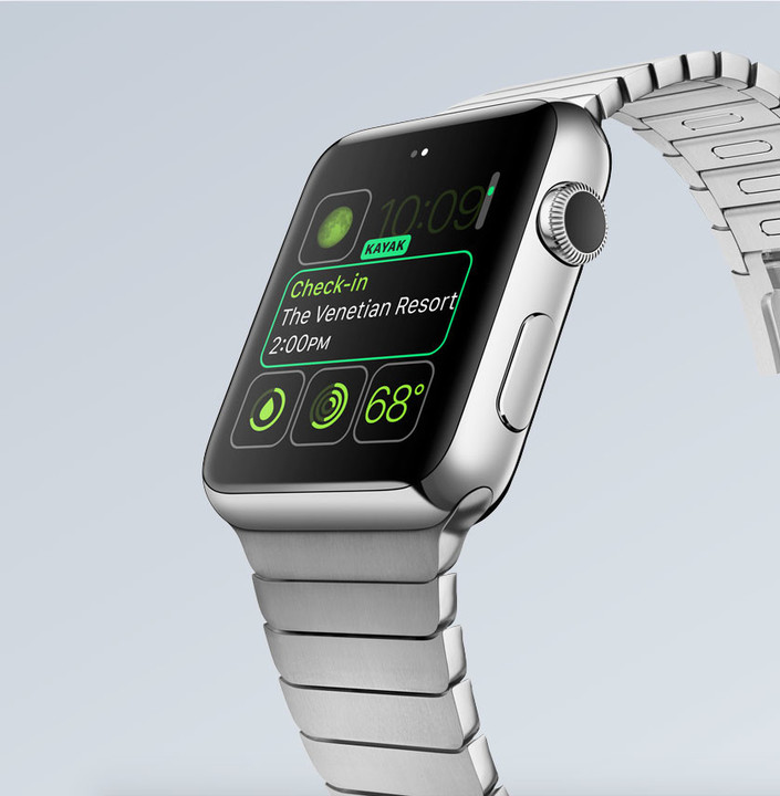 The Apple Watch features an OLED screen.