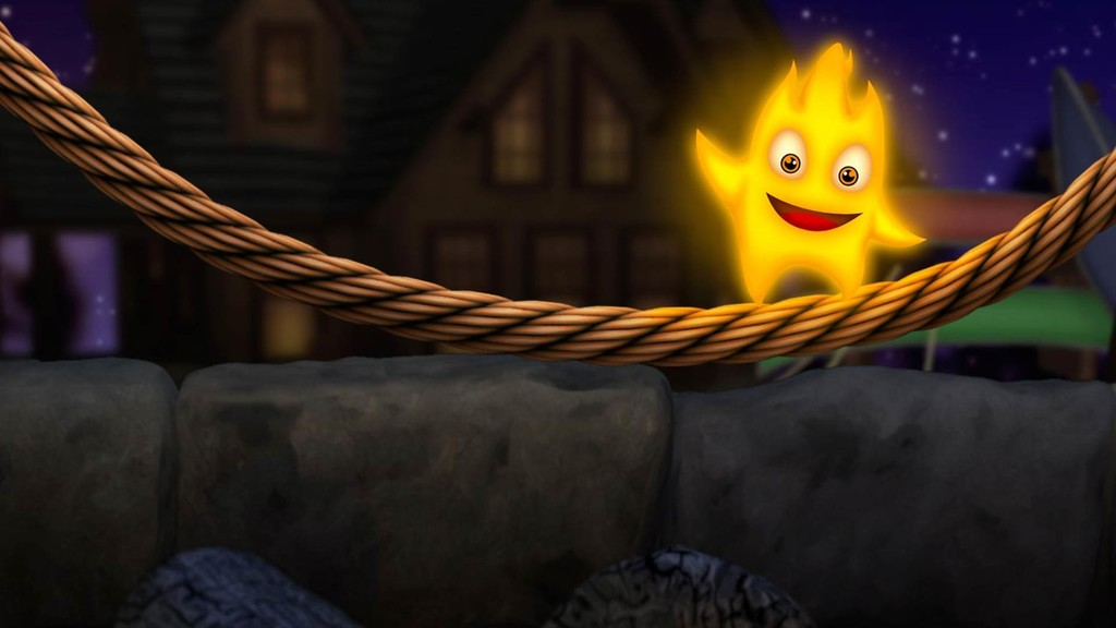 Help Wickman by rotating the tricky puzzles and keep the flame alive in Burn the Rope 3D