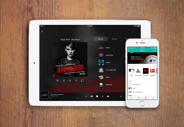 TuneIn Radio premium subscribers can listen on both the iPhone/iPod touch and all iPads.