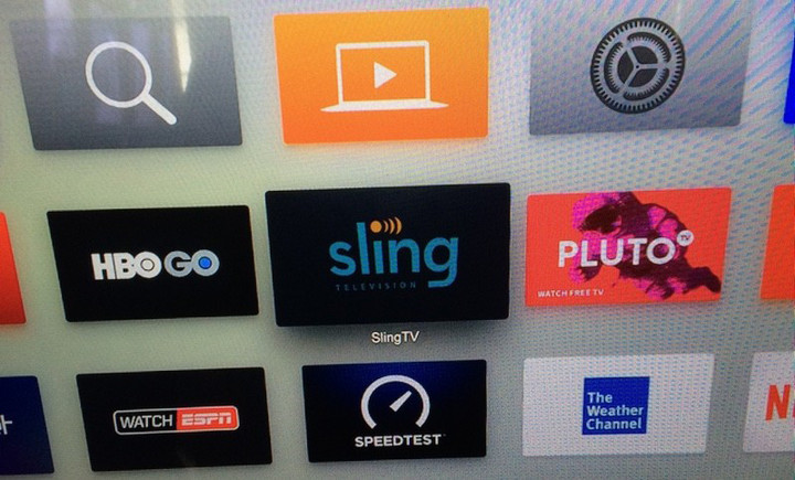 The Sling TV app on the fourth-generation Apple TV.
