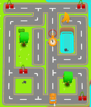 Help a taxi driving monkey in Crazy Maze – Traffic Puzzle