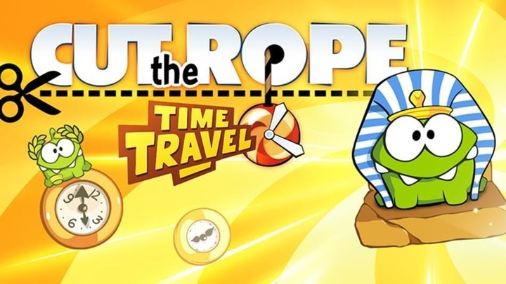 Om Nom is back in Cut the Rope: Time Travel.