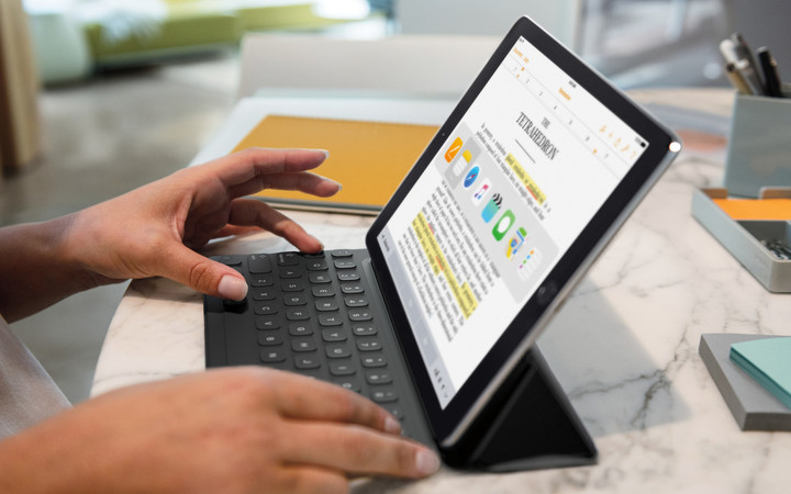 The new iPad Pro can be used with the Apple Pencil or the Smart Keyboard.