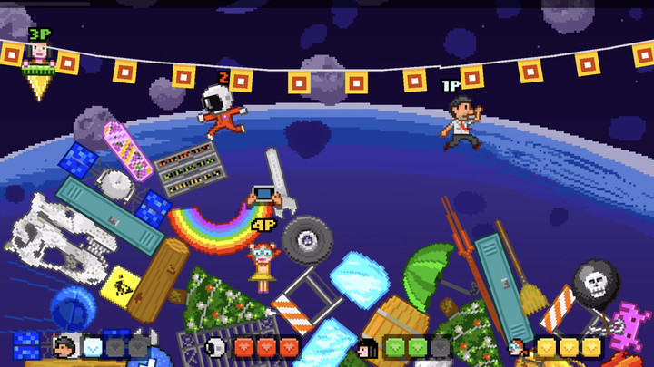 Up to four players can battle in the fun multiplayer mode.