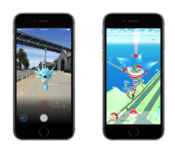 The game uses augmented reality technology to help players catch the adorable creatures.