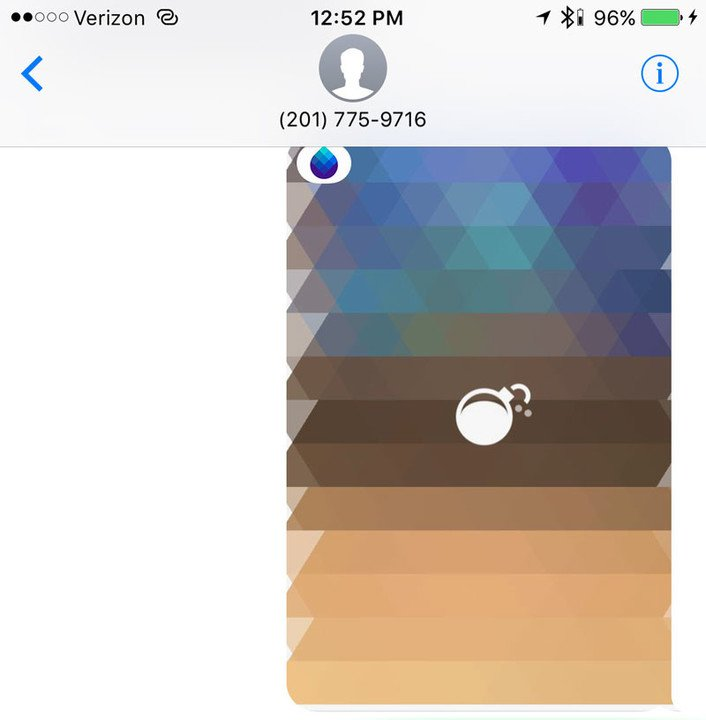 What a Blur image will look like when sent.