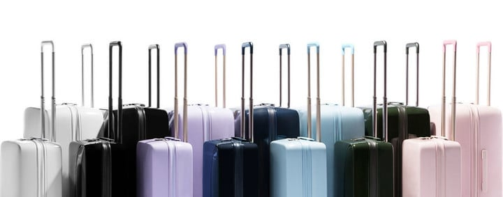 Available colors for the Raden Luggage in both sizes