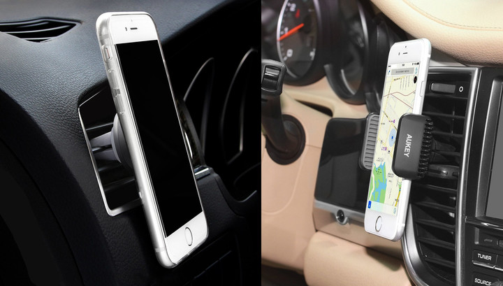 Magnetic Car Mount (left), Car Vent Cradle (right)