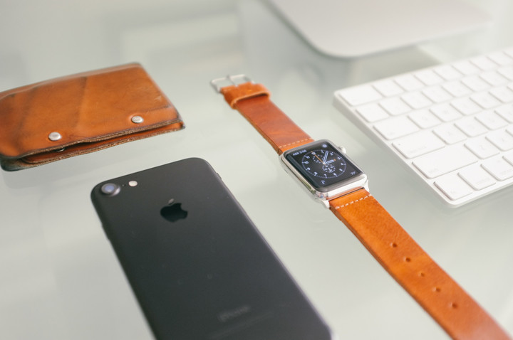 Leather Apple Watch Band from Clockwork Synergy