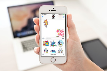 Get Into the Spirit With Disney Stickers: Holiday Cheer for iMessage