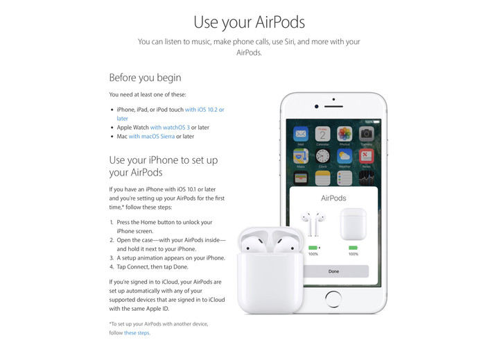Read up if you're interested in learning more about the wireless AirPods.