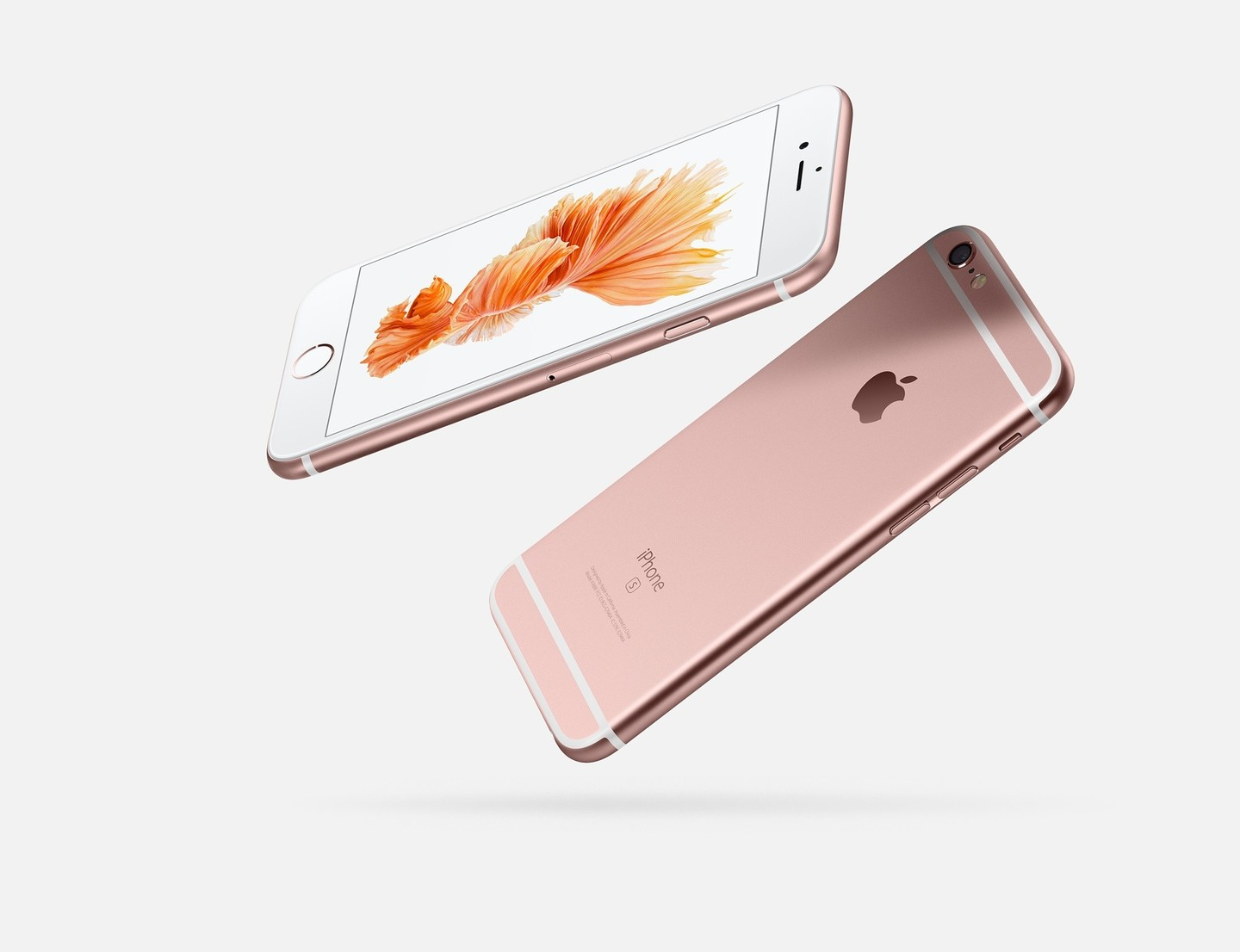 A rose gold iPhone 6s