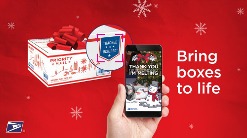 USPS augmented reality iPhone app Christmas