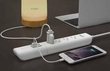 This AUKEY Surge Protector with 4 20W/4A USB Ports is Cheaper Than Ever