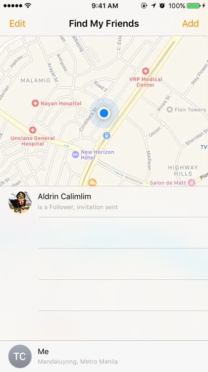 How to set location notifications for multiple friends