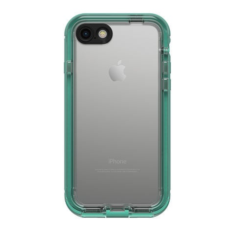 The back of the case features transparent material to let the iPhone's design shine through.