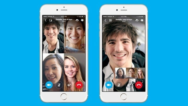 Skype added free group chatting to its iOS app in early 2016.