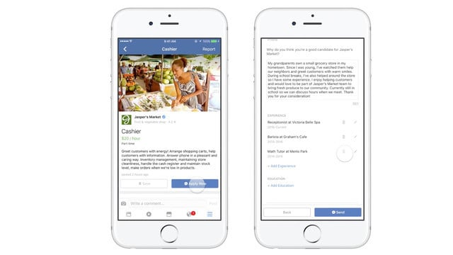 You Can Now Apply for a Job on Facebook's iOS App and the Web