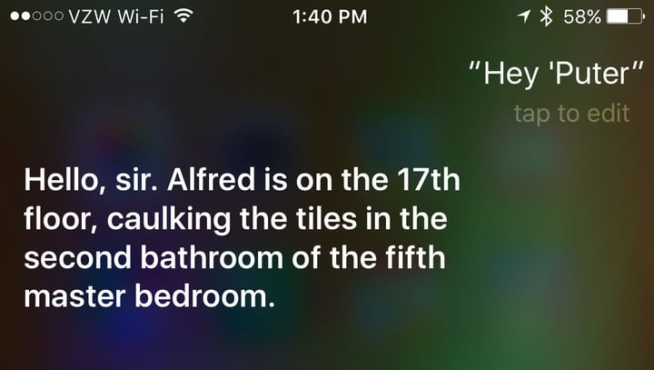 "Just ask Siri ""Hey 'Puter"" to see the fun answers."