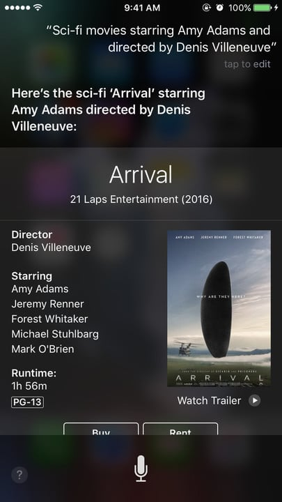 Siri movie Easter eggs sci-fi Amy Adams Denis Villeneuve