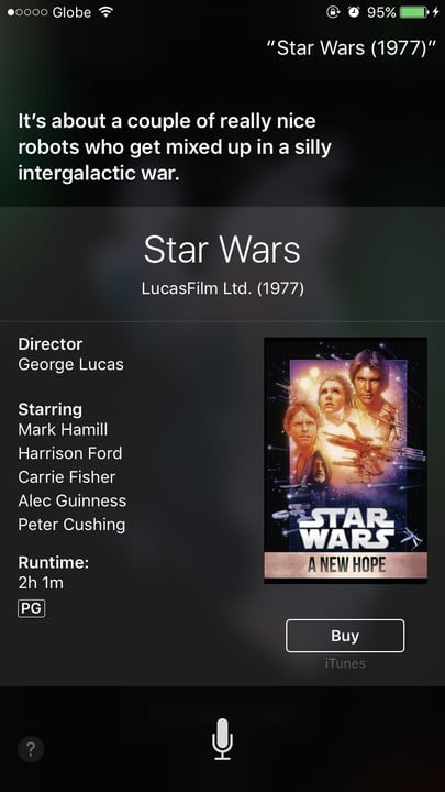 Siri movie Easter eggs Star Wars