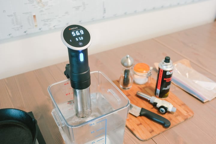 Sous Vide Steak Setup
