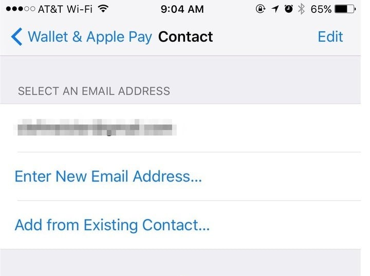 Configure default options in Apple Pay