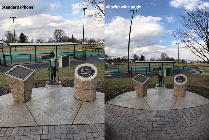 Standard iPhone lens vs Olloclip Wide Angle Lens