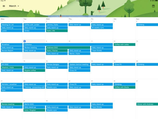 Google Calendar for iPad 4