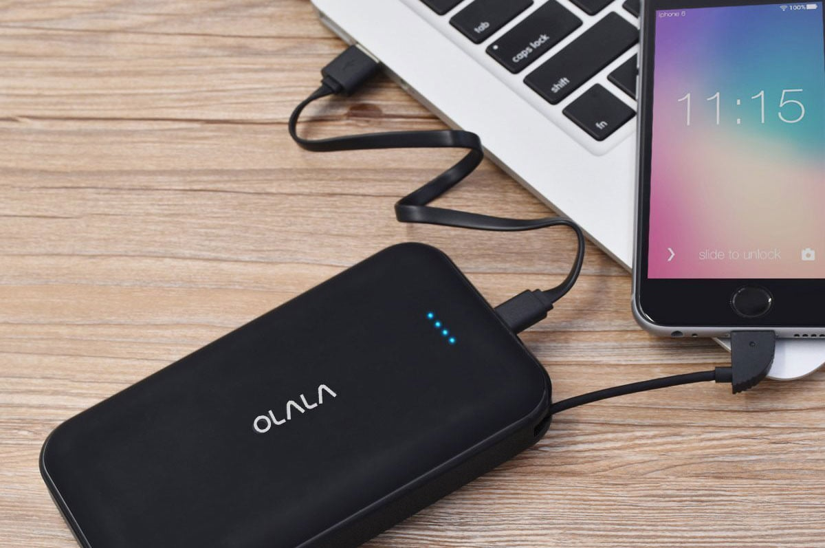 Get this 13000mAh Battery Charger with a Built-In Lightning Cable for 57% Off