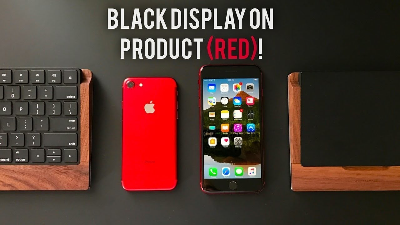 Product RED iPhone black front