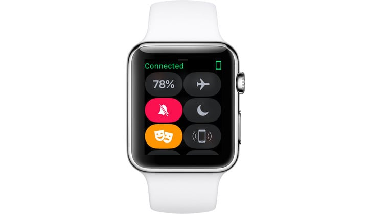 Activate Theater Mode by swiping up from any watch face and selecting the icon in the Apple Watch's Control Center.