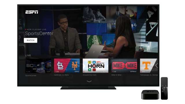 ESPN Rebrands Apple TV App, New Features Added