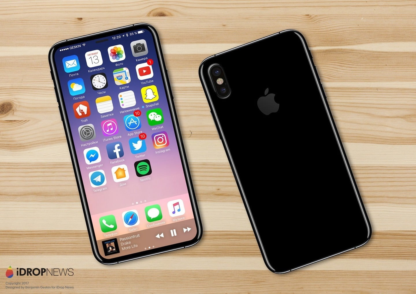 iPhone 8 prototype by iDrop News