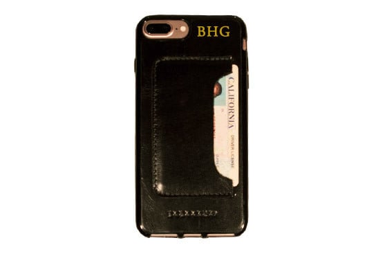 For an additional $9.95, you can add a gold monogram in the upper right corner of the case.
