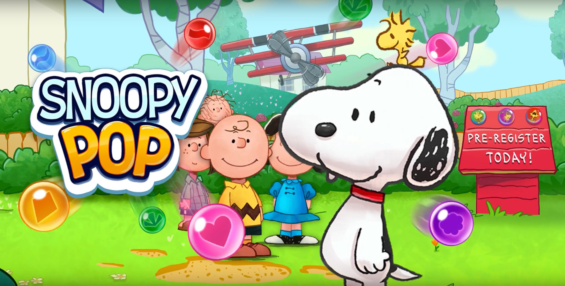 photo image Landing this Summer, Snoopy Pop is a Bubble Shooter Featuring the Beloved Peanuts Gang