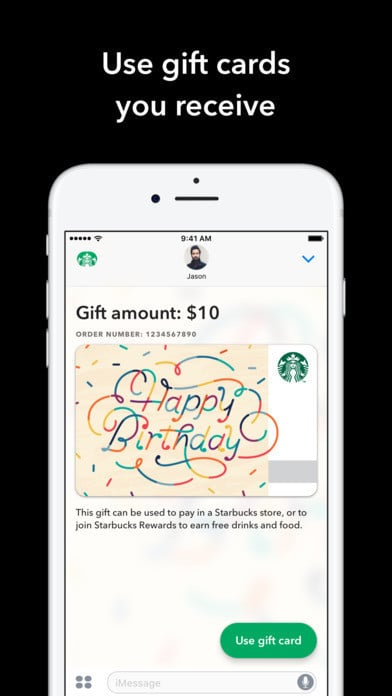 Starbucks iMessage App Lets You Send Digital Gift Cards With Apple Pay