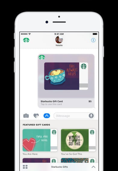 Starbucks iMessage app
