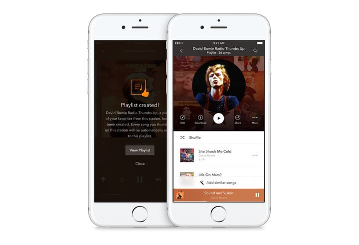 You'll be able to quickly access any music you've given a thumbs up.