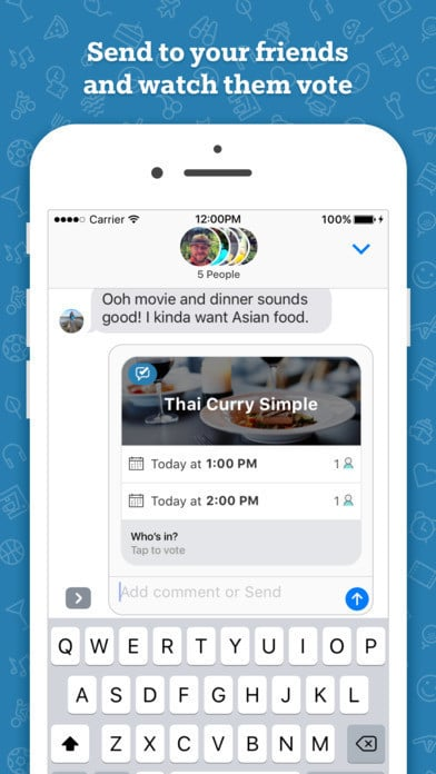 Who's In social event planning app for iMessage 4