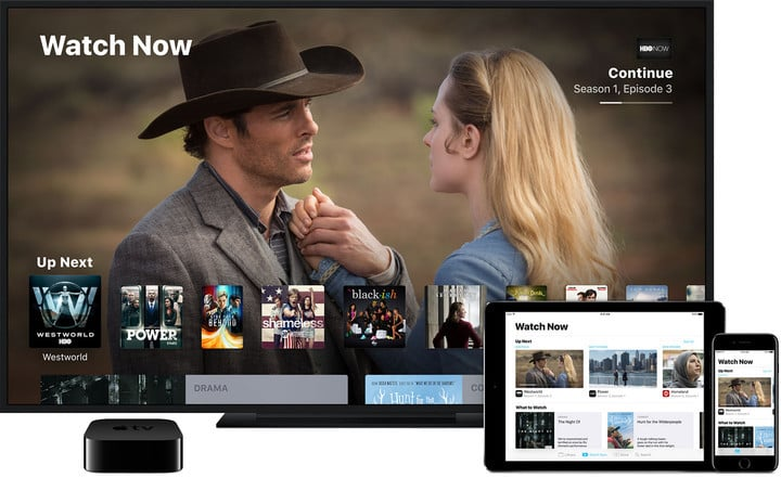 The cross-platform TV app is available on the Apple TV, iPhone, and iPad.