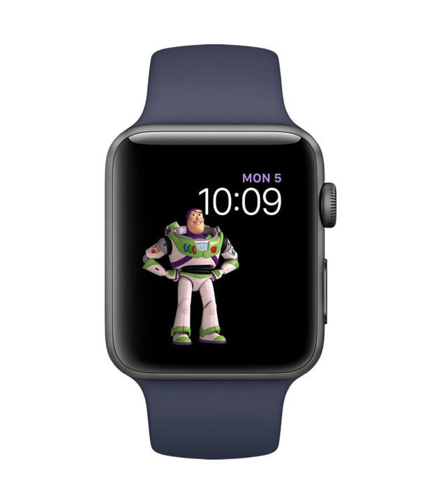 "Buzz Lightyear and friends from the ""Toy Story"" franchise will be available as watch faces in the new software."