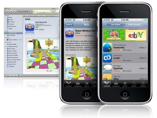 The App Store didn't arrive until a year later in 2008 along with iPhone OS 2.0 and the iPhone 3G.