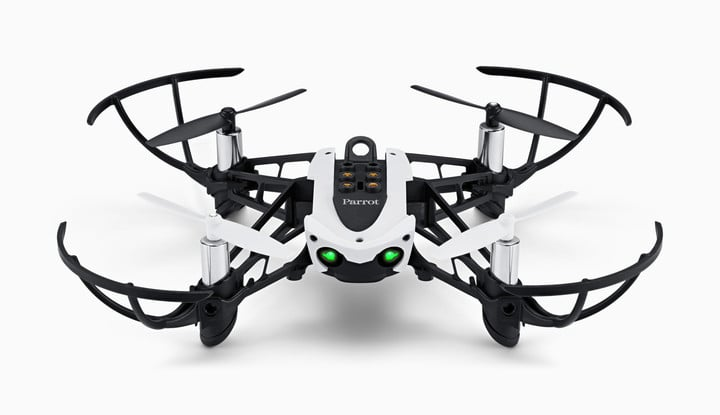The Parrot Mambo Mini Drone can take off, land, and more using code created in the app.
