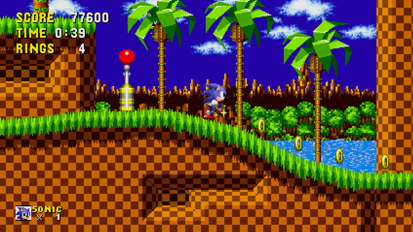 Sonic the Hedgehog in the Sega Forever collection