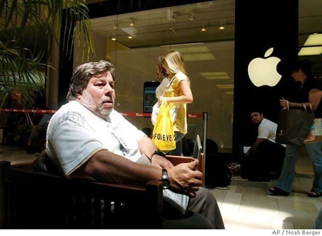 Even Apple co-found Steve Wozniak waited in line for the first iPhone ...